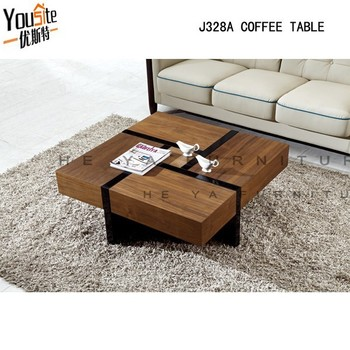 Good price wooden teapoy wood coffee table with funciton for Teapoy table designs