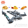 Fully Automatic Potato Flakes Equipment Frozen French Fries Making Machine Sweet Patato Surgeler Finger Chips Production Line