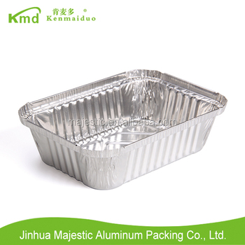 2017 Rectangular Eco-friendly 185mm disposable aluminium foil food containers