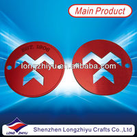 Hollow out customized rim emblem nameplate metal label with 3M self adhesive sticker for sale