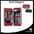 10 pcs stainless steel manicure kit classical nail clipper set for men and women Nail Care Manicure Tools