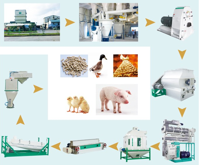 Top Quality cattle animal feed pellet machine with best quality and low price
