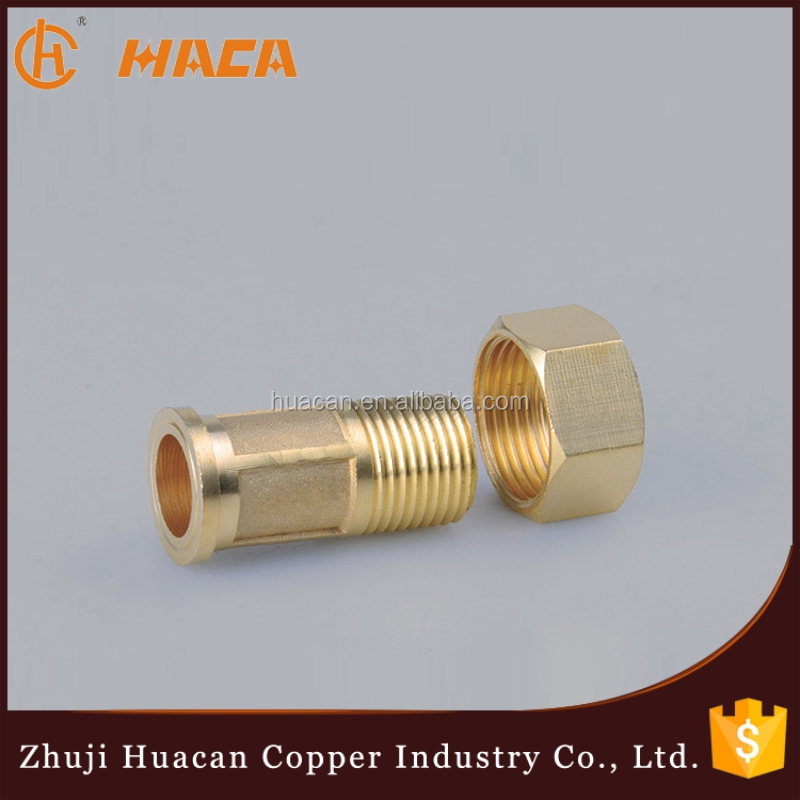 CNC Machine Produce 1/2 inch Brass Gas/Water Meter Connectors Socket Parts