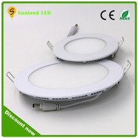 China factory 9 w led flat panel light high quality round 12v led recessed light