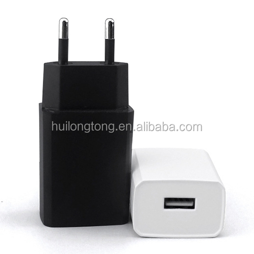 EU travel charger 5v1a usb chager for mobile phone ce rohs approved