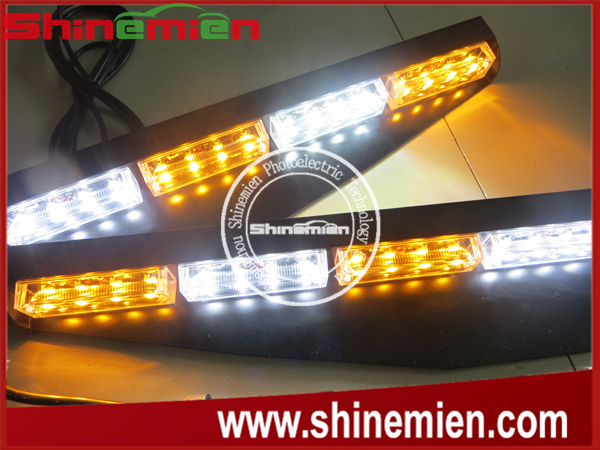 Led Police Car Visor Light Bars Linear Lens Car Interior Mount Light Bar Buy Led Visor Strobe