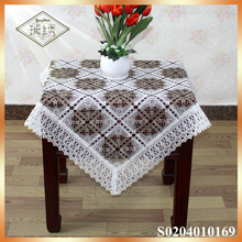 Trade Assurance Supplier Embroidered chemical lace table cloth 36x36