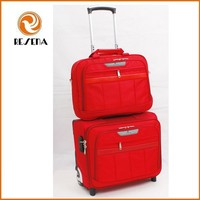 Travel carry on luggage trolley bags with laptop bags