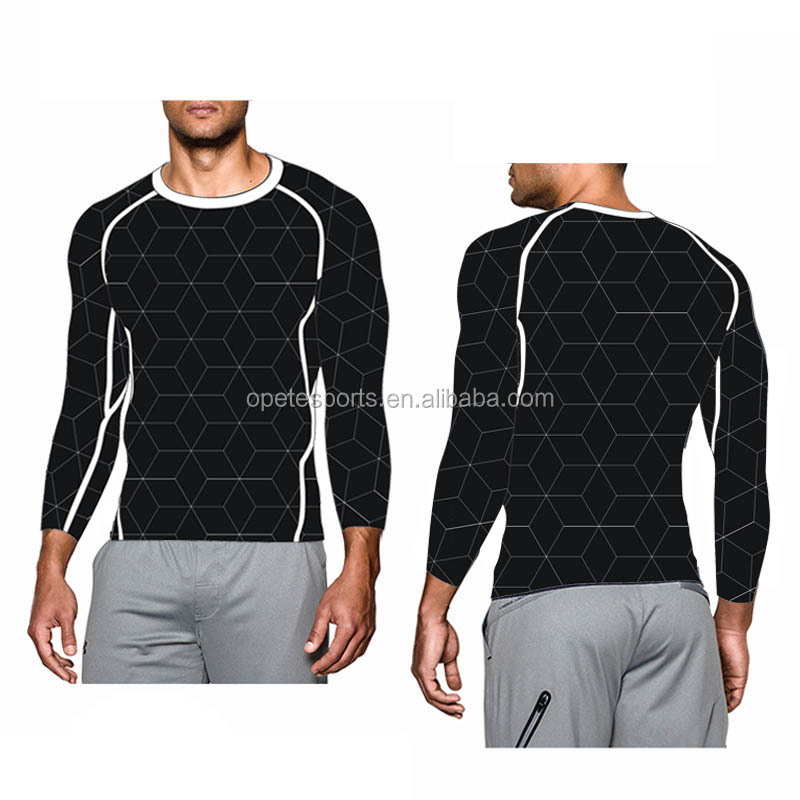 (OEM/ODM Factory) COMPRESSION men T shirt/ sports wear/ Running Fitness