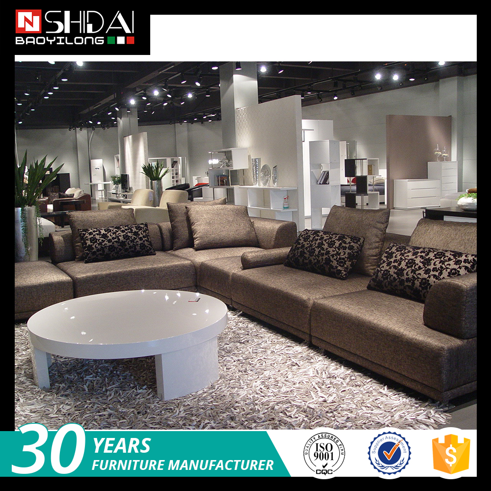 Factory direct sell universal fabric corner sofa furniture for living room