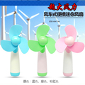 Portable Handy Mini Fan 2PCS AA Battery Operated Safety EVA Brade Variety Of Fan Color To Choose Customized LOGO and Color