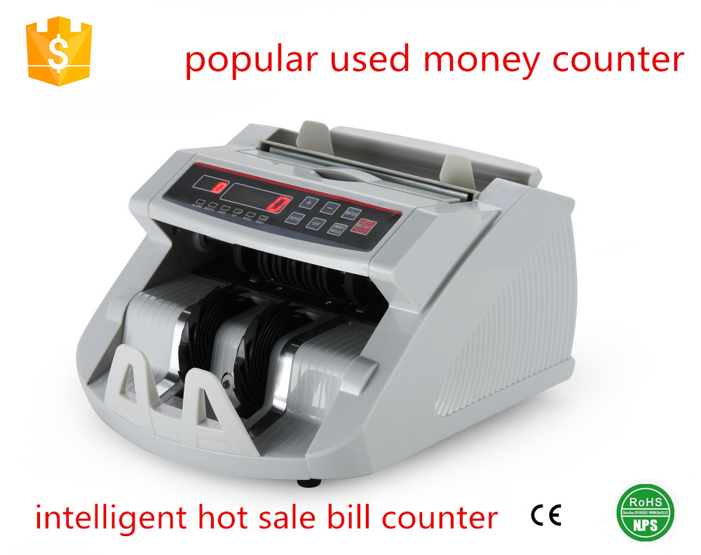 7pcs button banknote counter high quality money counter UV MG detector machine hot selling banknote counter