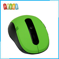 Green colro mini 2.4g wireless optical mouse driver, sample is available, matt surface optical mouse