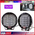 96w 9inch 4x4 spotlights working lamp12v led atv, jeep, off road daytime running