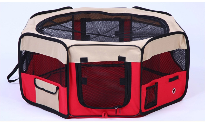 Pop up indoor&outdoor breathable folding exercise pen pet kennel dog cage