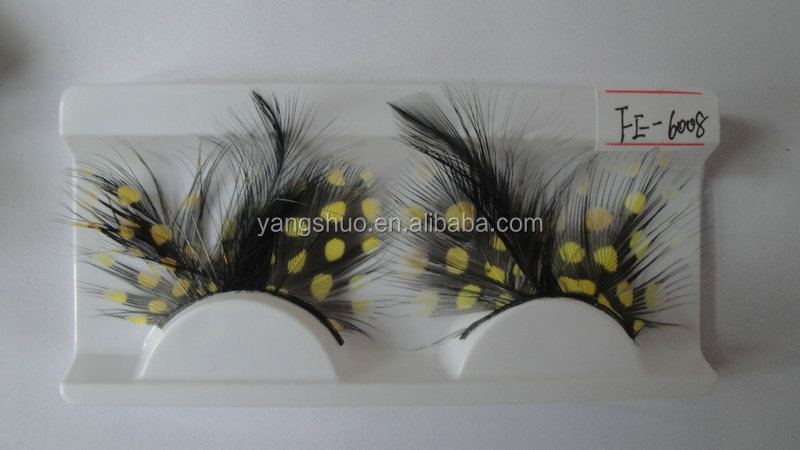 YS2141 New&hot sale eyelash colorful false feather eyelash