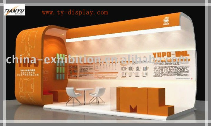 Corrugated Cardboard Modern Exhibition Booth For 2017