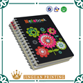 2016 Hot Sell Spiral Bunding Softcover Black Print Notebook Print For Students