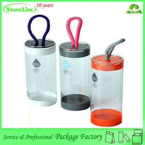 Newest design portable pvc waterproof plastic cylinder for clothes