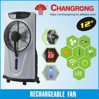 "Household use 12"" AC/DC 220V stand fan with water spraying"