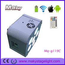 MQ-G119A mobile APP control WiFi APP battery powered dmx wireless 6in1 rgbwa uv led par light/led uplighting
