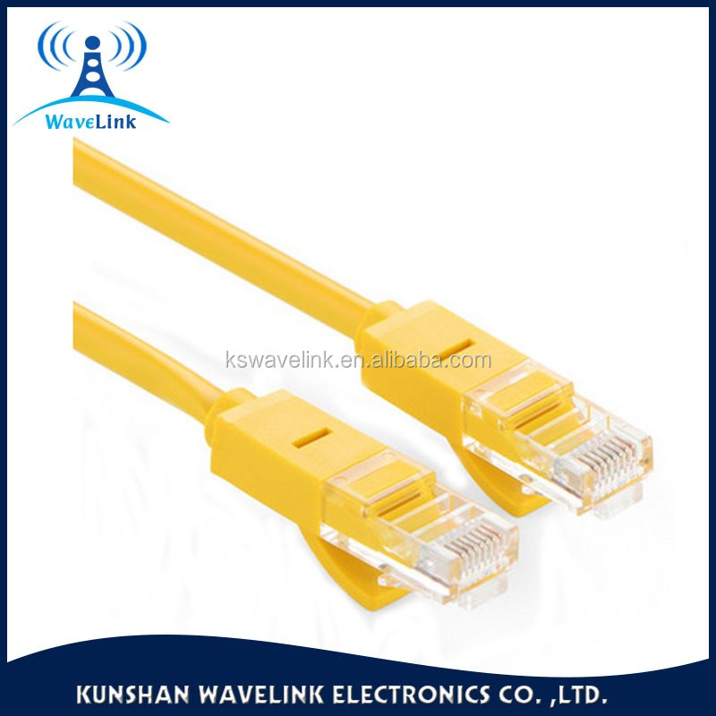 Factory Price Free Samples UTP/FTP/UFTP Yellow Color Round Jacket 26AWG Cat 5 Outdoor UTP Cable