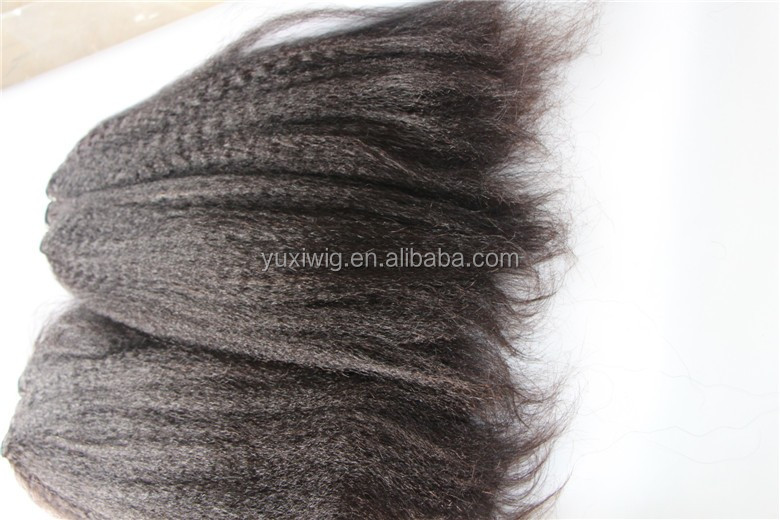 2016 Afro full cuticle 8a grade kinky straight Yaki weave