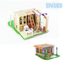 3D wooden doll house furniture toys