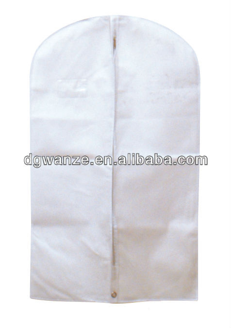 recycled white non-woven custom made garment bag