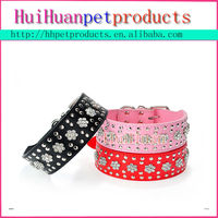 Beautiful embroidered leather dog collars