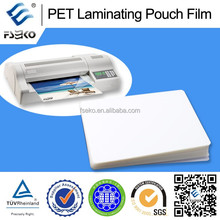 PET pouch or roll for paper thermal lamination film with different thickness
