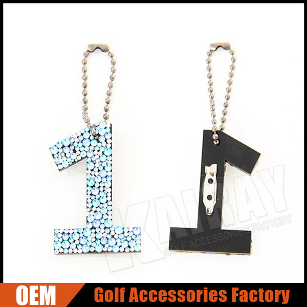 Custom Diamonds Plastic Golf Club Head Cover Tag