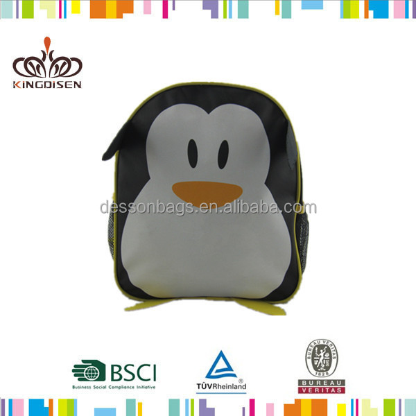 Popular Animal Penguin Cartoon 3D Bag And School Backpack for Back To School