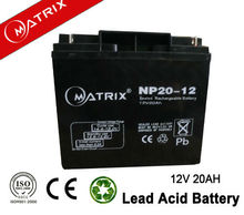 Shenzhen 12v 20ah lead acid battery for e-bike