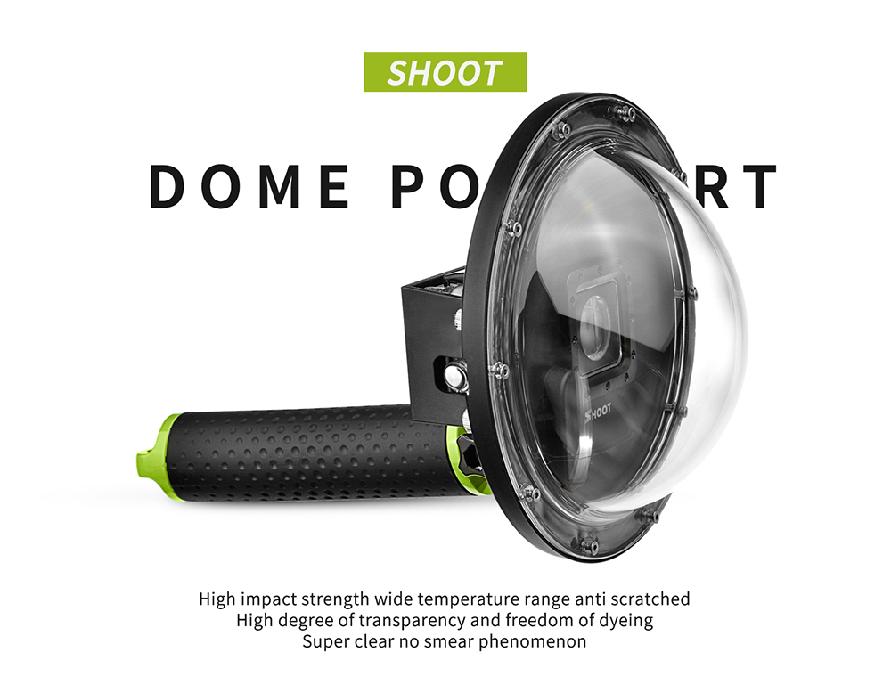 6 inch Dome Port for Go pro Hero4 /Hero3+ Waterproof Accessories for Go pro Cameras
