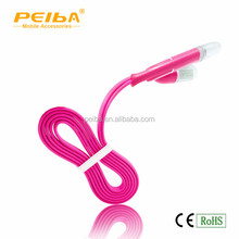 Join Your Christmas Party With Our USB Led Glow Head Mobile Cable Customized 2 in 1 USB Couple Data Cable