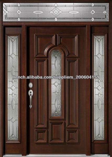 Fran ais ext rieur portes en bois design dj s9602msths 1 for Porte exterieur design