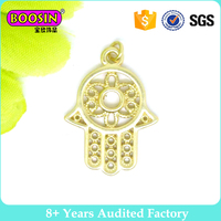 Fashion 925 sterling silver gold plating wholesale hamsa charms #B0046