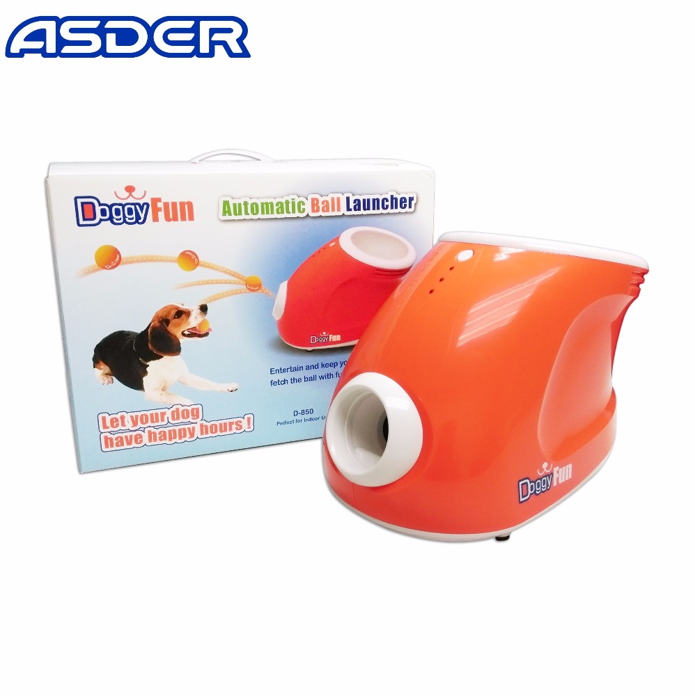 Mini interactive safe fetching tennis dog ball machine
