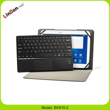 Folio PU leather case with wireless touchpad keyboard for 9-10inch tablet pc BK910-2