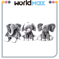 New Fashion White PP Cotton Beautiful Elephant Soft Baby Girls Toys