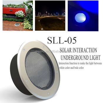 Color Changing Stainless Steel Solar Led Unground Light ip68
