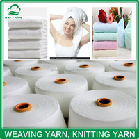 100% recycled organic cotton dyed yarn for knitting towel