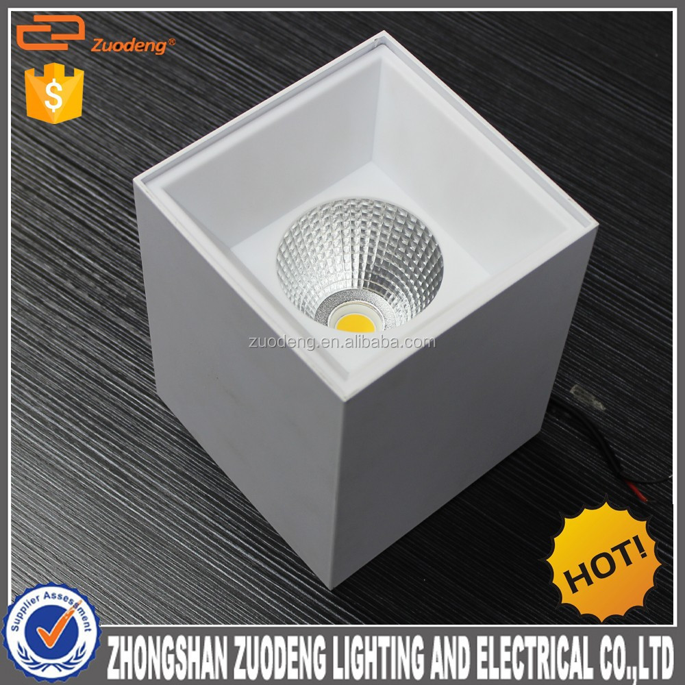 2015 hot selling 15w cob led downlight/surface led downlight/square led downlight retrofit