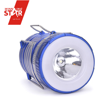 Solar lantern oval tube 1W bulb led solar lantern charge with USB interface solar power led camping lantern