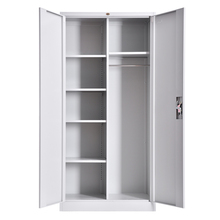 China Assemble Modern Used Room Stainless Steel Storage Wardrobe Clothes File Cabinet Price Locker With Two Doors