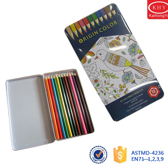 New deisgn promotional metal box package 7-inch colored pencil