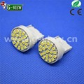 high power autoparts production T20 7440 7443 22smd 1206 superbright car Led light