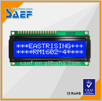 with 8-bit MPU interface lcd display 16x2 blue character display module made in china