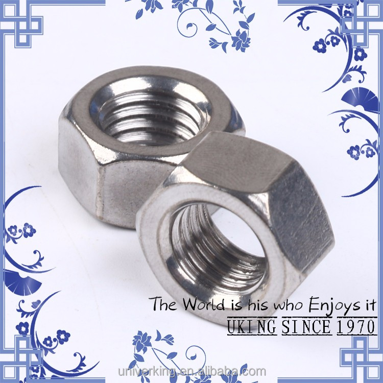 Factory direct-stainless steel 201 DIN934 <strong>M10</strong> <strong>hex</strong> <strong>nut</strong>